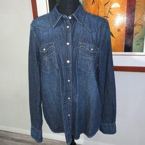 LRL Ralph Lauren Western Denim Shirt